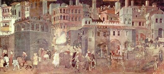 Alegoria do bom governo. Palazzo Publico, Siena, século 14<br />Ambrogio Lorenzetti  [Wikimedia Commons]