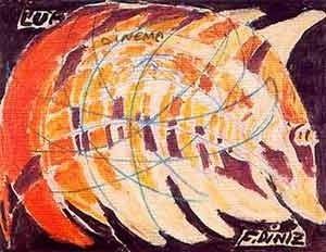Exposición O universo de Fernando Diniz. Lápis cera e óleo sobre papel, 1987 [Museu Imagens do Inconsciente]