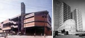 À esquerda, Edifício Jerônimo Ometto, Rio de Janeiro, 1974. À direita, Condomínio São Luís, São Paulo, 1976-1984<br />Foto José Moscardi