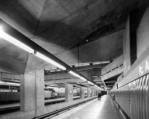 Estação Praça da Árvore do Metrô, São Paulo, 1968<br />Foto José Moscardi