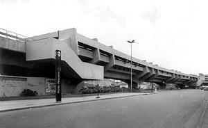 Estação Ponte Pequena do Metrô, São Paulo, 1968<br />Foto José Moscardi