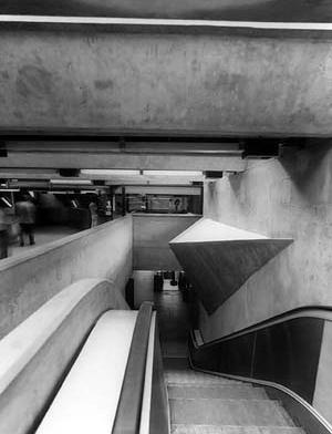 Estação Tietê do Metrô, São Paulo, 1968<br />Foto José Moscardi