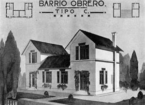 """Projeto de Bairro Operário em """"cidade jardim"""", 1920"""