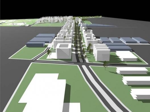 Operação Urbana Carandiru – Vila Maria. Perspectiva Eletrônica do conjunto de intervenção
