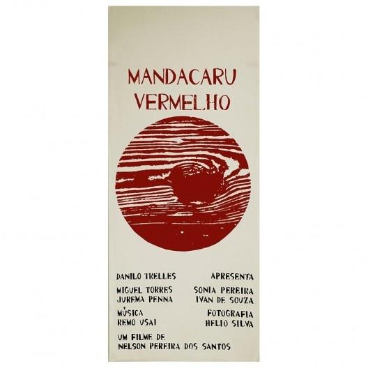 Primeiro cartaz do filme Mandacaru Vermelho, Lygia Pape, 1961<br />Imagem divulgação  [Acervo © Projeto Lygia Pape]