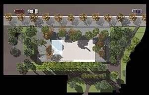 Ordenação de espaço público na Diagonal, planta, Barcelona, 2002. Helio Pinon, Laboratorio de Arquitectura, ETSB UPC