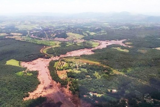 Região de Brumadinho após rompimento da barragem de rejeitos da mineradora Vale<br />Foto divulgação  [Corpo de Bombeiros de Minas Gerais]