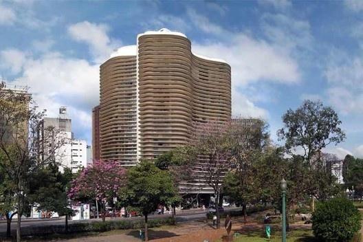 Edifício Niemeyer, Praça da Liberdade, Belo Horizonte. Arquiteto Oscar Niemeyer<br />Foto Victor Hugo Mori
