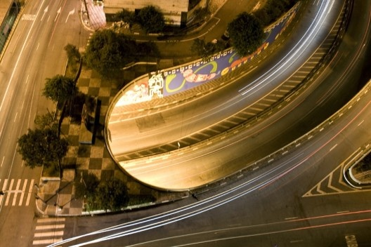 Vista do Edifício Anchieta para a rua da Consolação e acesso subterrâneo da Avenida Paulista<br />Foto Ana Mello