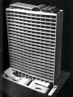 Edifício Viação férrea do Rio Grande do Sul, 1944 [BONDUKI, Nabil. Affonso Eduardo Reidy. Editorial Blau / Instituto Bardi, Porto / São Paulo]