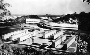 Conjunto Residencial Marquês de São Vicente, RJ, 1952 [BONDUKI, Nabil. Affonso Eduardo Reidy. Editorial Blau / Instituto Bardi, Porto / São Paulo]