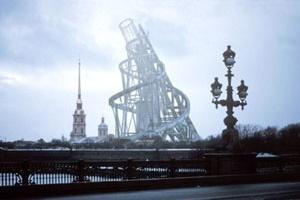 Monumento a la Tercera Internacional, Vladimir Tatlin<br />Rendering Takehiko Nagakura / MIT