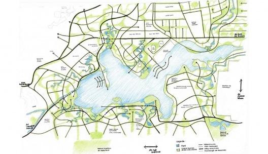 Lagoa de Jacarepaguá, masterplan<br />Imagem divulgação