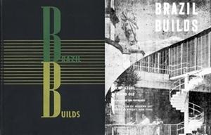 Capa dura, a sobrecapa de Brasil Builds, de Philip Goodwin, 1943