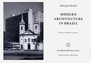 Folha de rosto de Modern Architeture in Brazil, de Henrique Mindlin, 1956