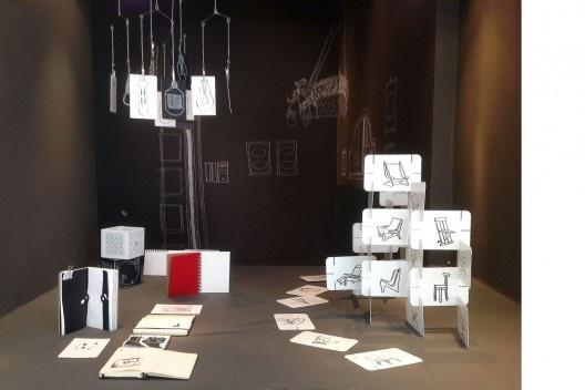 """""""Arquitetura do Desenho"""", MCB, detalhe de vitrina expositiva, sala 5, São Paulo, 2012. <br />Foto Zeuler Lima"""