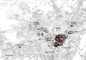 Mapa do Centro Histórico de Oviedo