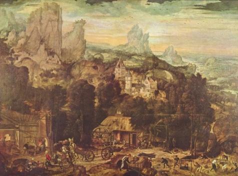 A mina de cobre, século 16<br />Hendrick met de Bles  [Wikimedia Commons]