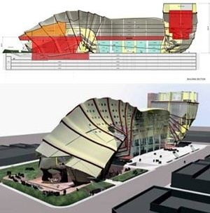 Conjunctive Points Theater Complex, Culver City, Califórnia. Eric Owen Moss Architects
