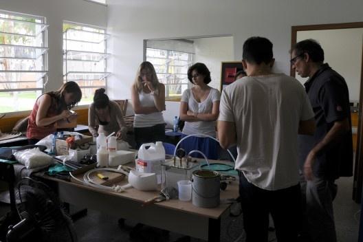 XIX Sigradi Florianópolis 2015, workshop, professor Arthur Lara<br />Foto Katielen Bissolotti