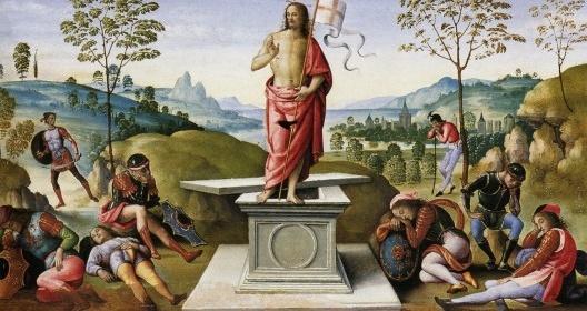 Pietro Perugino, A ressurreição de Jesus Cristo, c.1497<br />Foto divulgação  [Wikimedia Commons]