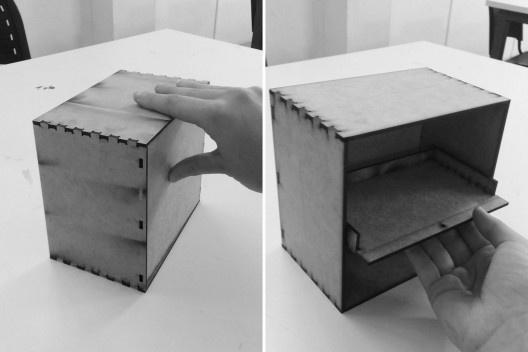Materioteca, modelo escala 1:6<br />Foto Isabella Simões e Sofia Lundgren  [Acervo Fabricação, tectônica e projeto: catálogo de encaixes em madeira]