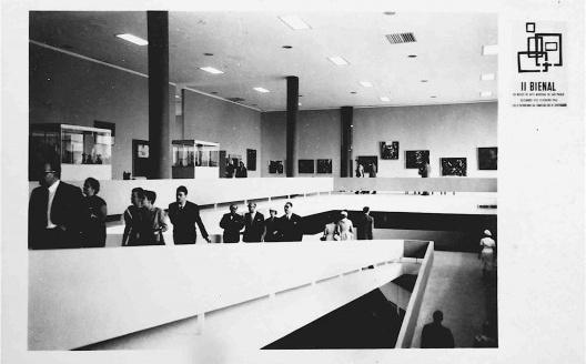 Internacionalización del arte regional: Postal de los nuevos pabellones de la II Bienal de Sao Paulo, 1953<br />Archivo Edith Jiménez, reproducida por cortesía de Carlo Spatuzza
