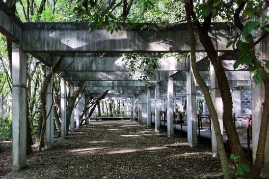 Área permeável no Parque da Juventude, São Paulo<br />Foto Abilio Guerra