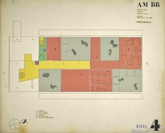 Embaixada da França, residência do embaixador, planta terceiro andar, Brasília, 1962-1964, arquiteto Le Corbusier<br />Imagem divulgação  [Fondation Le Corbusier]