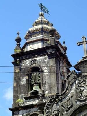 Torre da igreja de Santo Antônio do Convento Franciscano, Recife, 1777<br />Foto do autor, 2003
