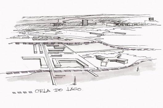 Ocupação em loteamentos na Orla do Lago Paranoá. Desenhos de Eliel Americo<br />Acervo do autor  [Ver nota 12]