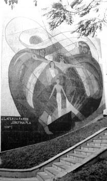 Modernidad y pedagogía artística: Mural ubicado en la sede del Instituto de Previsión Social, Asuncion, realizado por Josefina Plá y José Laterza Parodi, 1959 (ver nota 29)