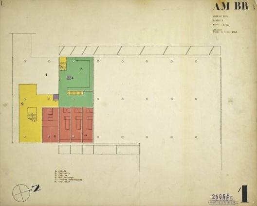 Embaixada da França, residência do embaixador, planta térreo, Brasília, 1962-1964, arquiteto Le Corbusier<br />Imagem divulgação  [Fondation Le Corbusier]