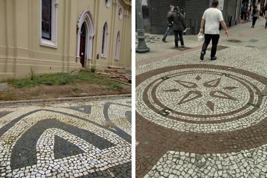 Padrões nas calçadas de Curitiba<br />Foto Mário Sérgio Freitas, 2019