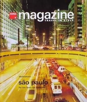 Capa da Swiss Magazine Travel in Style. Edição jul./ago. 2004