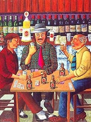 En el café, obra del pintor brasileño Zé Cordeiro [www.cayomecenas.com]