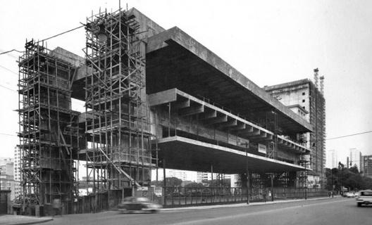 Masp em construção<br />Foto Hans Günter Flieg