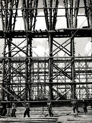 Masp em construção [Acervo Instituto P.M. e Lina Bo Bardi]