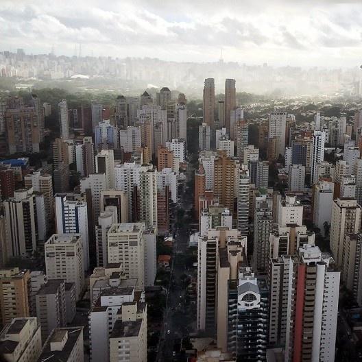Vista aérea de São Paulo<br />Foto Abilio Guerra
