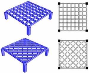 Figura 03: Grelhas de vigas com disposição ortogonal e diagonal