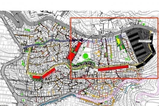 Plano de Ação da Área Exemplar<br />Imagem divulgação / M&T Mayerhofer  [Plano Diretor Sócio-Espacial da Rocinha]