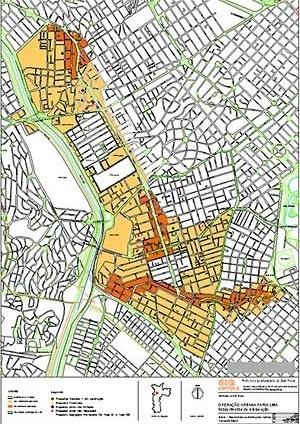 Operação Urbana Faria Lima: perímetro, áreas direta e indiretamente beneficiadas, localização das adesões [SEMPLA/PMSP]