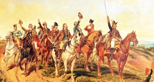 """Atrás de Don Pedro I, civis brancos apoiam o ato de independência. Pedro Américo, """"Independência ou Morte"""" (detalhe), 1888<br />Imagem divulgação  [Museu Paulista da USP]"""