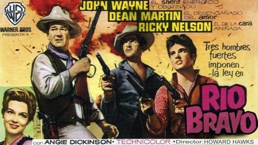 """Cartaz do filme """"Rio Bravo"""" (1959), direção de Howard Hawks, com John Wayne, Dean Martin e Ricky Nelson<br />Imagem divulgação"""