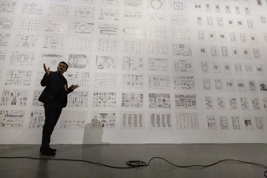 """Abertura da exposição """"Economia de meios"""", Trienal de Arquitetura de Lisboa 2019<br />Foto Lorenzo Roncaglione"""