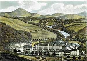 New Lanark, gravura do século XIX [www.newlanark.org]