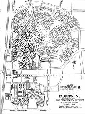 Radburn, a idéia de superblocks Clarence Stein, 1928 [www.radburn.org]