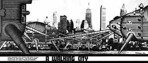 Walking City em New York, Ron Herron [www.archigram.net]