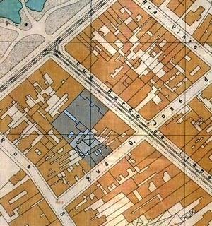Figura 5 – Mappa Topographico do Município de São Paulo. Sara Brasil – 1930, em destaque o terreno do Edifício e Galeria Califórnia