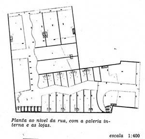 Figura 6 – Planta do pavimento térreo do Edifício e Galeria Califórnia [Habitat nº. 2]